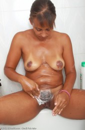 mature christine shower